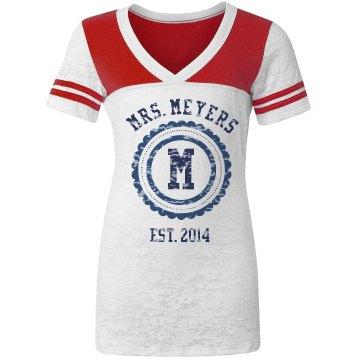 Mrs. Team Jersey Tee