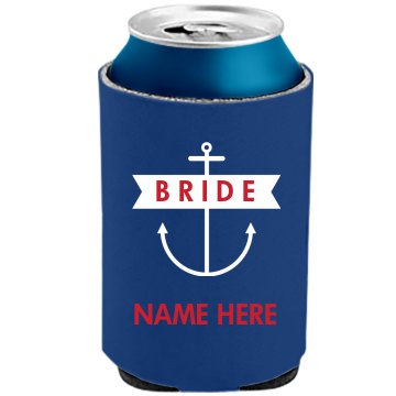 Nautical Anchor Bride Koozie
