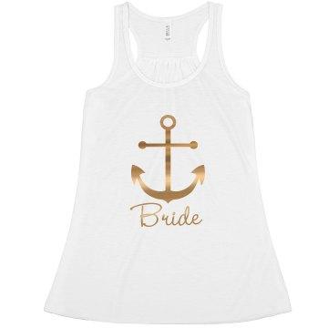 Nautical Anchor Bride Tank Top, Bride's Mate