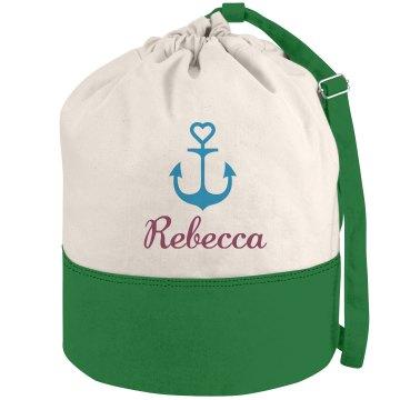 Nautical Beach Canvas Bag