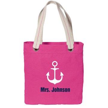 Nautical Bridal Tote Bag