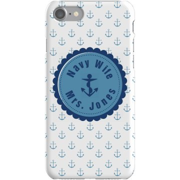 Navy Wife iPhone Case