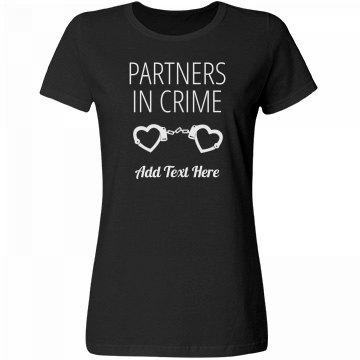 Partners In Crime Matching Wifey Custom Handcuff Tee