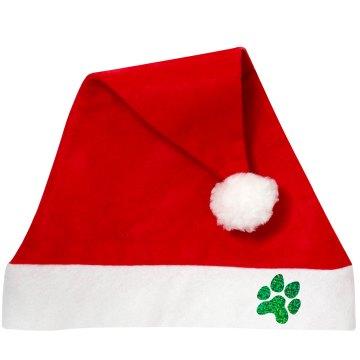 pawprint santa hat