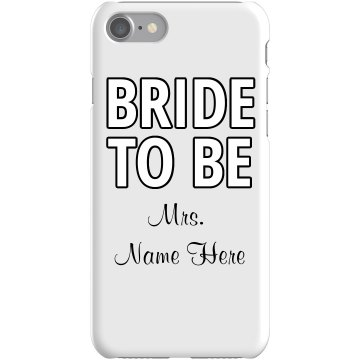 Personalized Bride iPhone Case