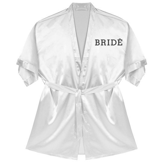 Personalized Bride Satin Robe