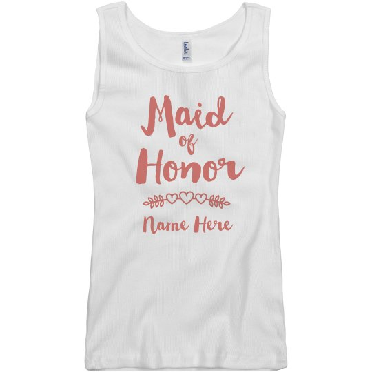 Personalized Maid Of Honor Tank
