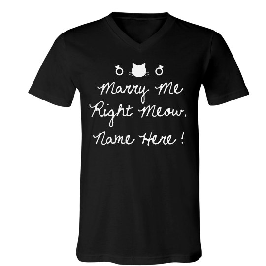 Personalized Marry Me Right Meow!
