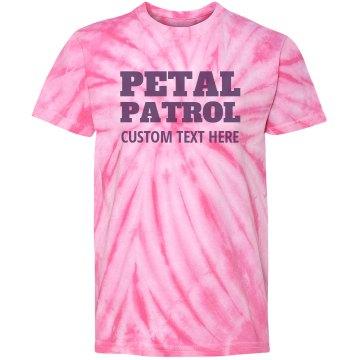 Petal Patrol Flower Girl Tie Dye Custom Funny Tee