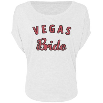 Pink and White Vegas Bride flowy shirt