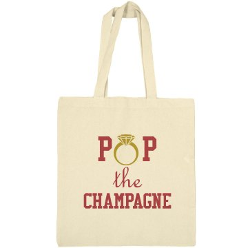 Pop The Champagne tote