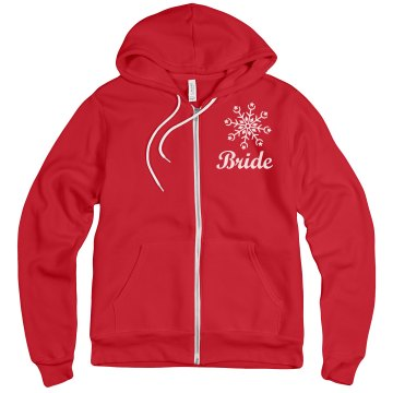 Red Hoodies for Bride