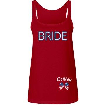 Red, White, Blue Bride
