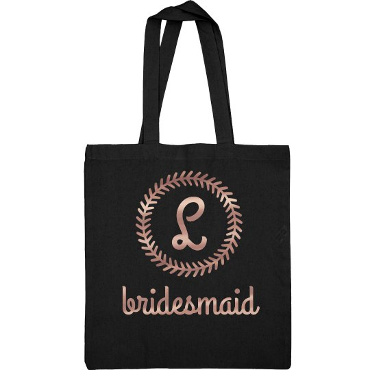 Rose Gold Bridesmaid Tote Gift