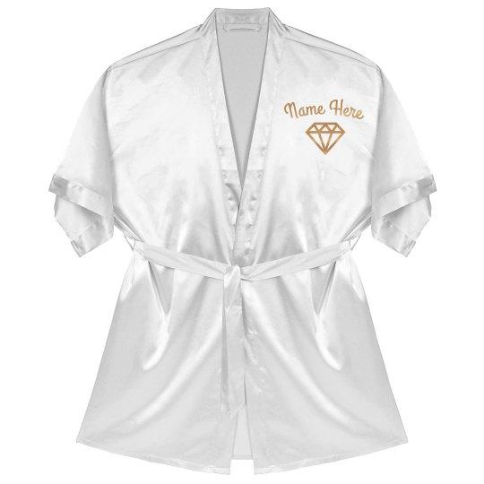Rose Gold Custom Name Bride Robe