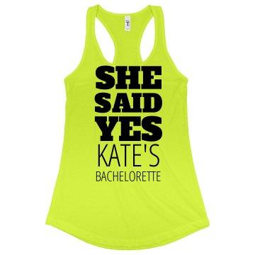 Said Yes Bachelorette