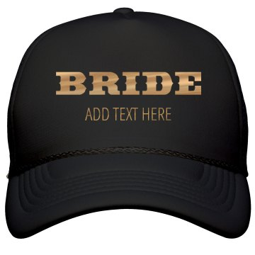 Shiny Gold Western Bride