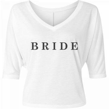 Simple Bride Engagement Gift Tee