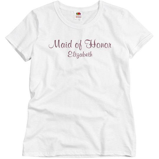 Simple Maid Of Honor Tee
