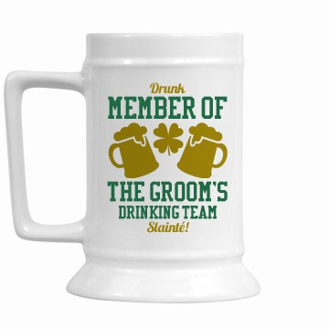 St Patricks Groom Drinking Team