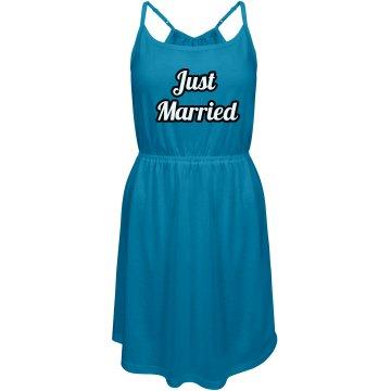 Teal Just married Dress