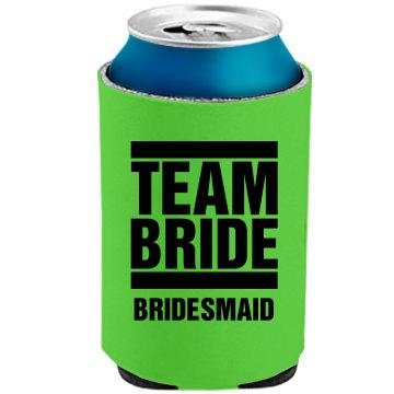 Team Bride Bachelorette Neon