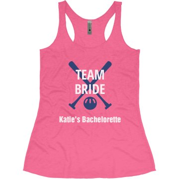 Team Bride Baseball Bachelorette