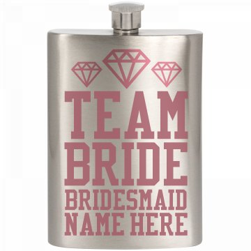 Team Bride Booze Custom Gift