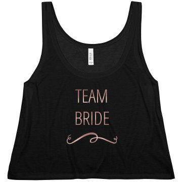 Team Bride Copper Metallic Text Tank Top