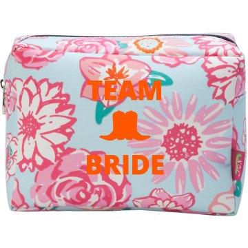 Team Bride Country Wedding Makeup Bag