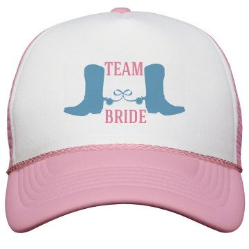 Team Bride Country Wedding Trucker Hat
