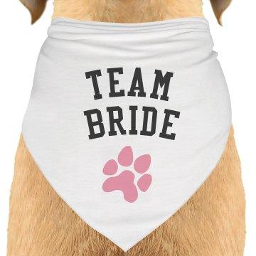 Team Bride Dog Bandana