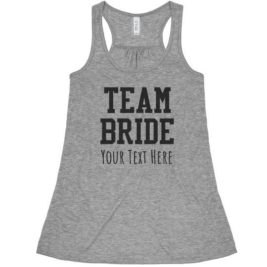 Team Bride Fashion Tank