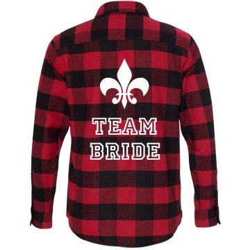 Team Bride Flannel Shirt
