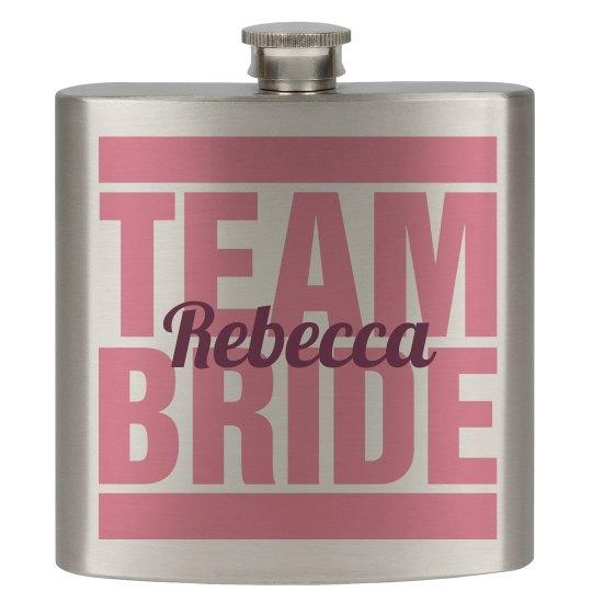 Team Bride Flask Girls 3