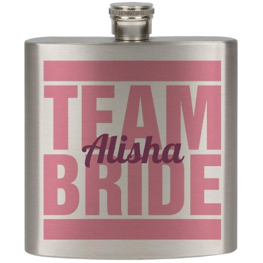 Team Bride Flask Girls
