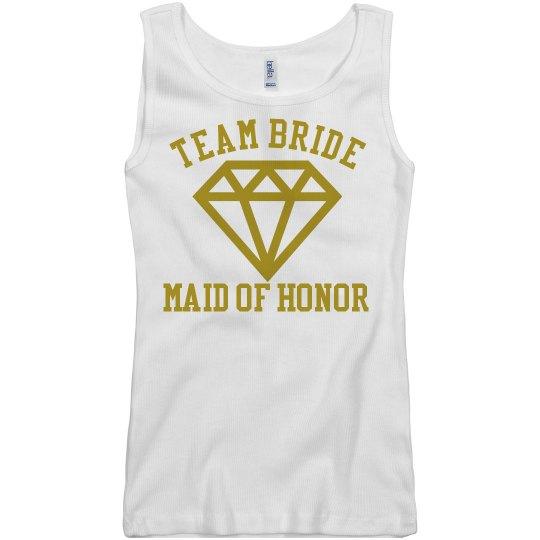 Team Bride Maid of Honor Tshirt