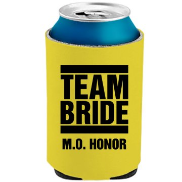 Team Bride MOH Neon Koozie Party