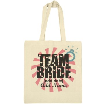 Team Bride Ring Add Name