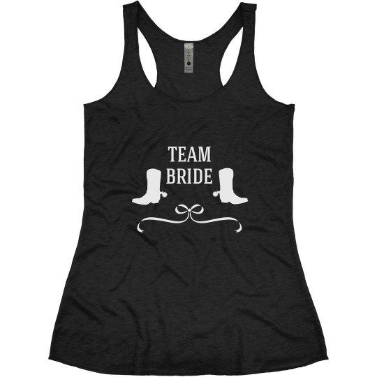 Team Bride Tank Country Wedding