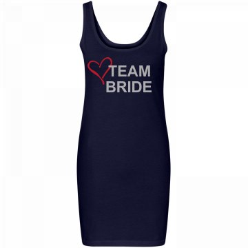 """Team Bride"" Tank Dress"