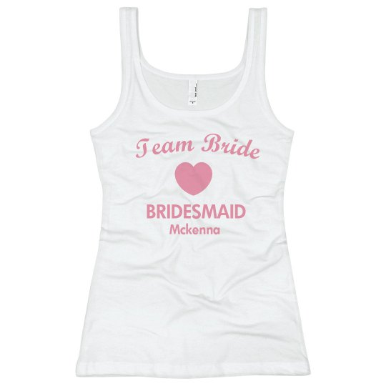Team Bride Tank w/back