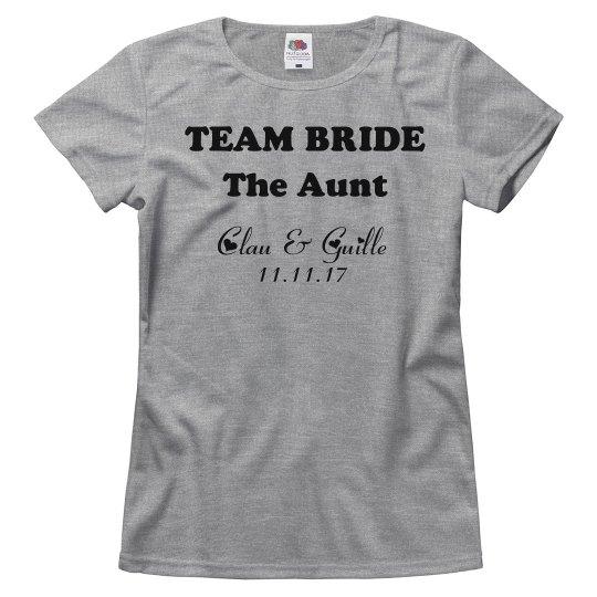 Team Bride Tee - The Aunt