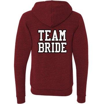 Team Bride Triblend Zip