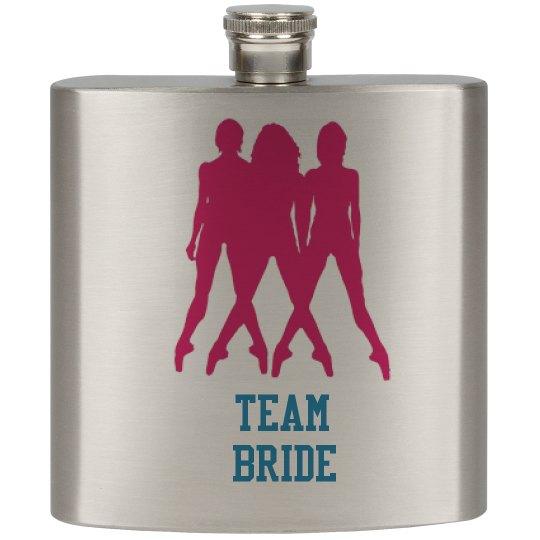 Team Bride Wedding Flasks