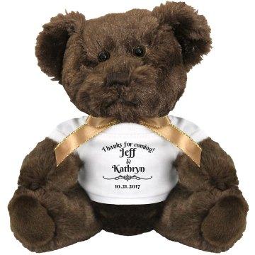 Thank you! Wedding favor teddy bear