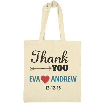 Thank You Welcome Tote Bags