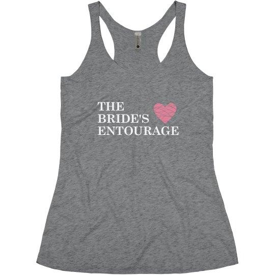 The Bride's Entourage Heart