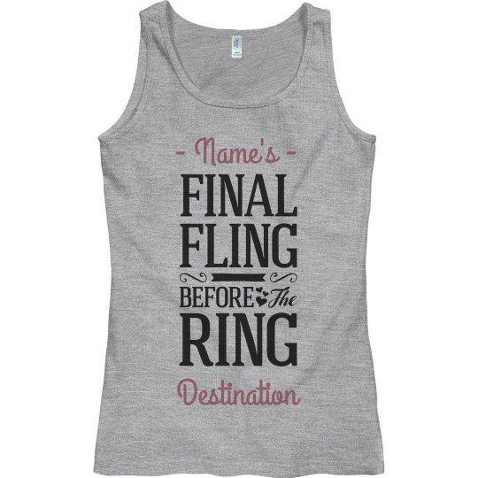 The Final Fling Personalized Bachelorette Tank