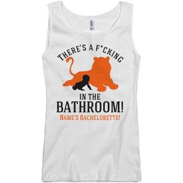 Tiger in the Bathroom Vegas Girl